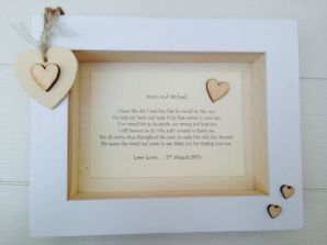 Shabby Personalised Chic Box Frame Present Mother Father Of The Groom From Bride